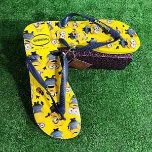 Havaianas Minions Yellow  Flip-Flop Size 13M NEW